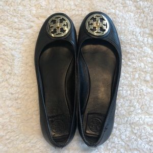 Tory Burch Logo Turn key Flats Size 9.5